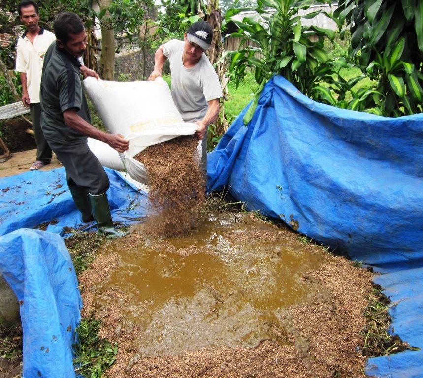 Praktek Pembuatan Kompos di Medowo_Kediri